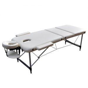 Массажный стол ZENET ZET 1049 WHITE разложенный
