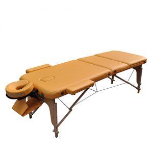 Массажный стол ZENET ZET-1047 размер L ( 195*70*61) YELLOW разложенный