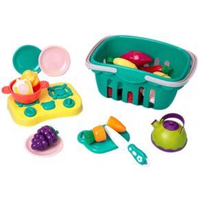 Игровой набор Beiens Корзина с овощами и фруктами
